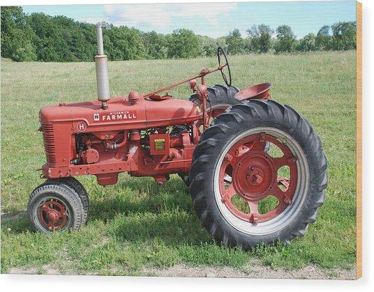 Classic Tractor Wood Print
