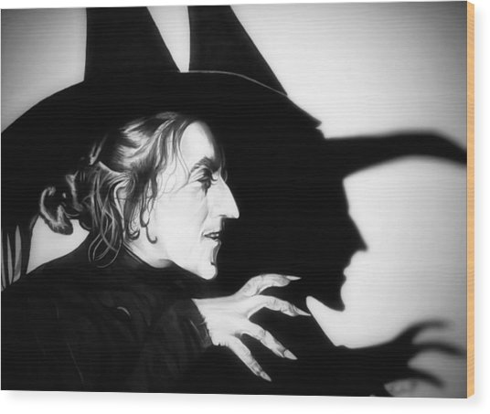 Classic Wicked Witch Of The West Wood Print