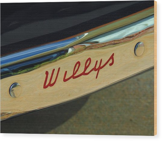 Classic Willys Jeep Wood Print