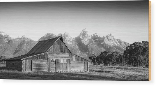 Classic Wyoming Wood Print by Peter Irwindale