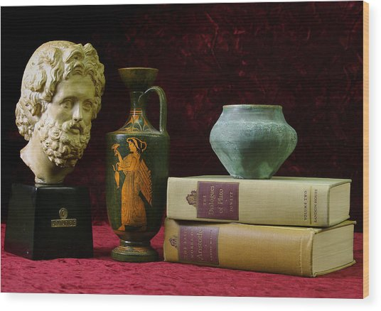 Classical Greece Wood Print