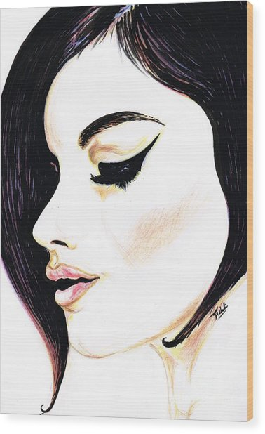 Classy Lady Wood Print
