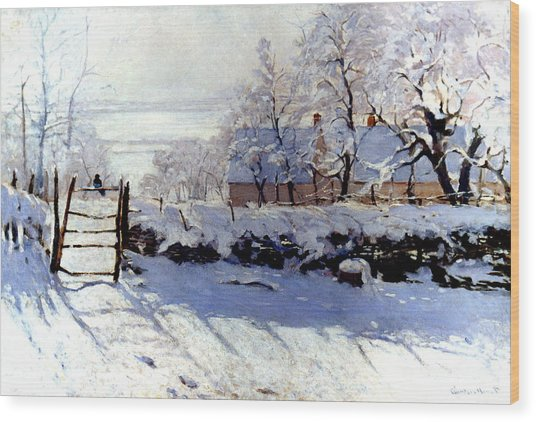 Claude Monet The Magpie - To License For Professional Use Visit Granger.com Wood Print