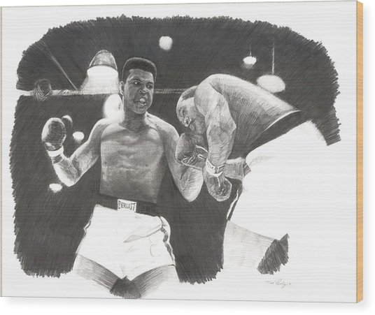 Clay Vs Liston 1 Wood Print