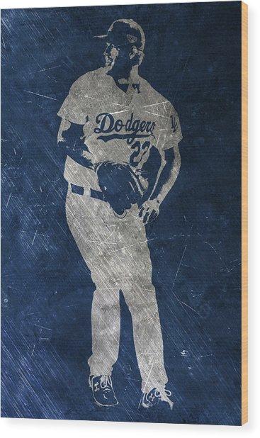 Clayton Kershaw Los Angeles Dodgers Art Wood Print