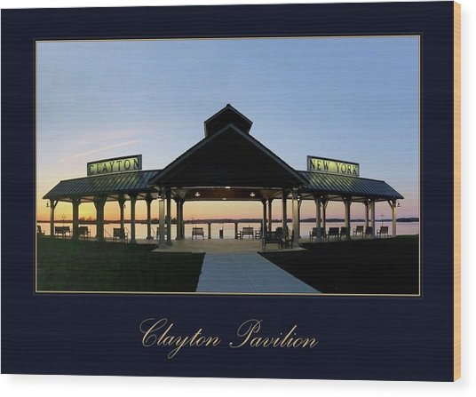 Clayton Pavilion Wood Print