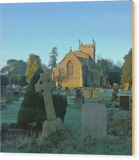 Clear Light In The Graveyard Wood Print