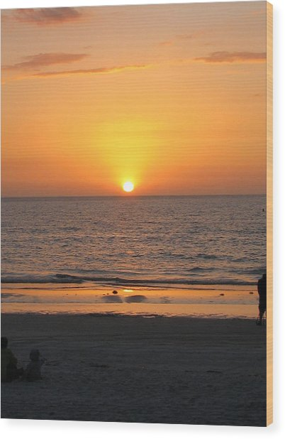 Clear Sunset Wood Print