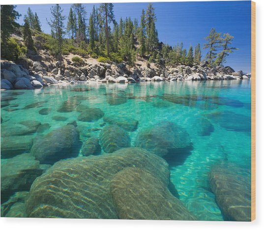 Clear Water Wood Print
