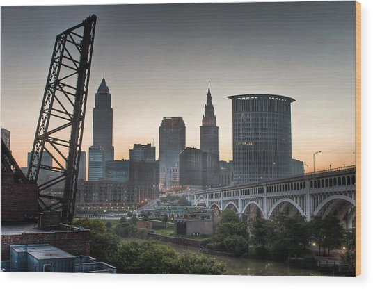 Cleveland Awakens Wood Print