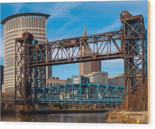 Cleveland City Of Bridges Wood Print