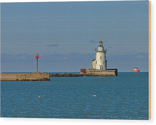 Cleveland Lighthouse Wood Print