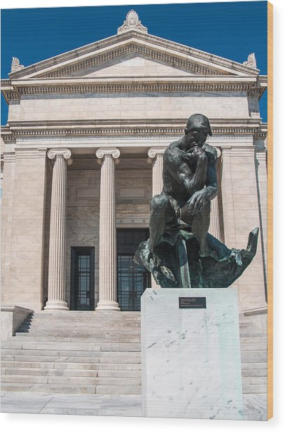 Cleveland Museum Of Art, The Thinker Wood Print