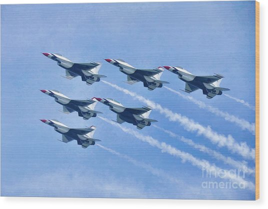 Cleveland National Air Show - Air Force Thunderbirds - 1 Wood Print