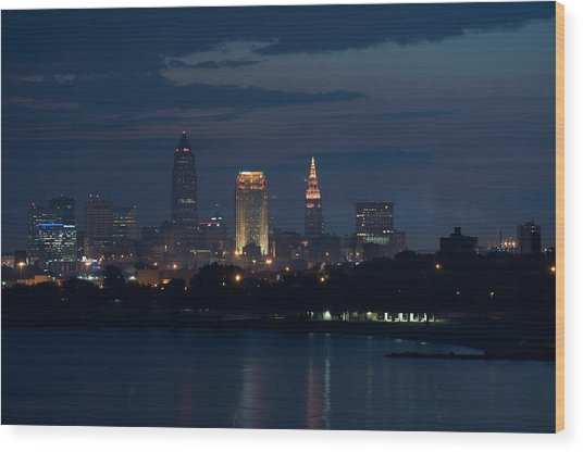 Cleveland Reflections Wood Print