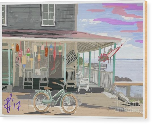 Cliff Island Store 2017 Wood Print