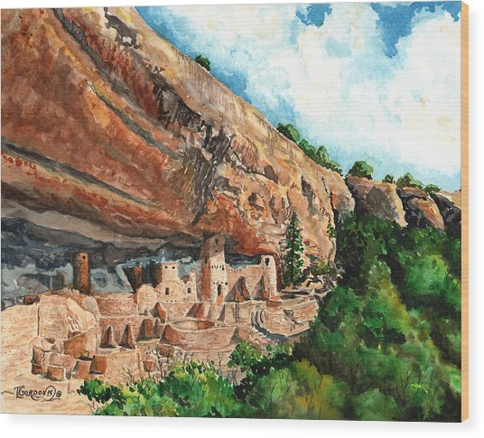Cliff Palace Mesa Verde Wood Print
