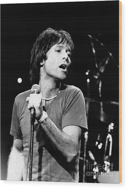 Cliff Richard 1980 Wood Print