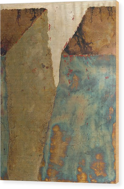 Cliff Two Wood Print by Wayne Berger