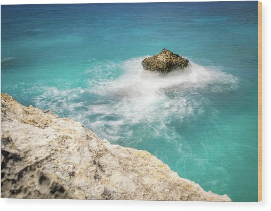 Cliff Views In Negril Wood Print