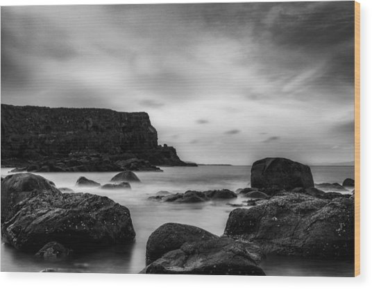 Cliffs Near Causeway Wood Print