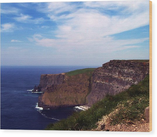 Cliffs Of Moher Aill Na Searrach Ireland Wood Print
