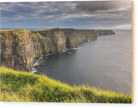 Cliffs Of Moher On The West Coast Of Ireland Wood Print