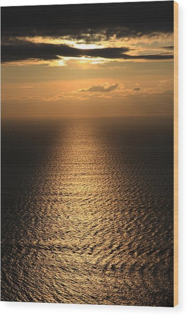 Cliffs Of Moher Sunset Co. Clare Ireland Wood Print by Pierre Leclerc Photography