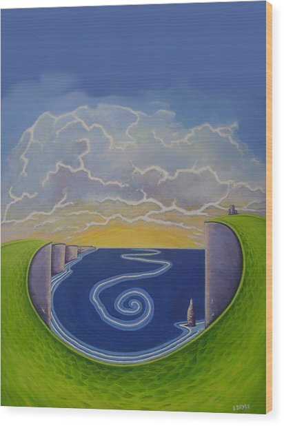 Cliffs Of Moher Vortex Wood Print by Eamon Doyle