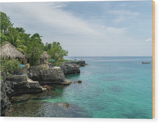 The Cliffs Of Negril Wood Print