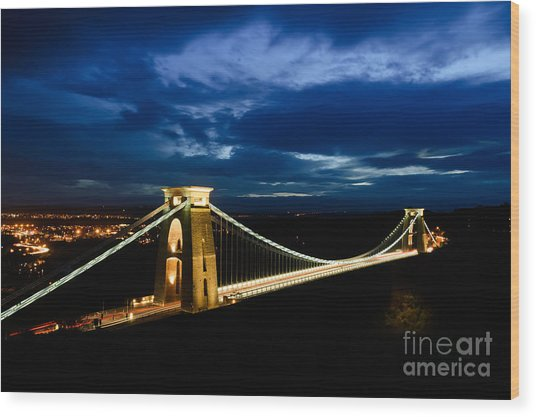 Clifton Suspension Bridge, Bristol. Wood Print
