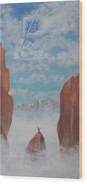 Climb To The Heavens Wood Print by Marjorie Hause