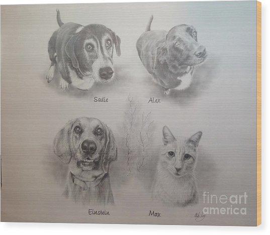Cline Pets Wood Print