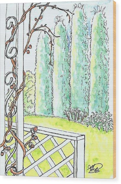 Clinging Vine Wood Print by George I Perez