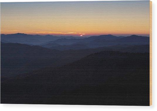 Clingmans Dome Sunset Wood Print