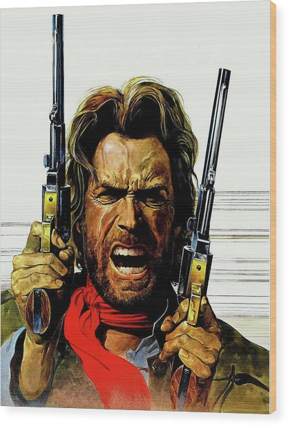 Clint Eastwood As Josey Wales Wood Print