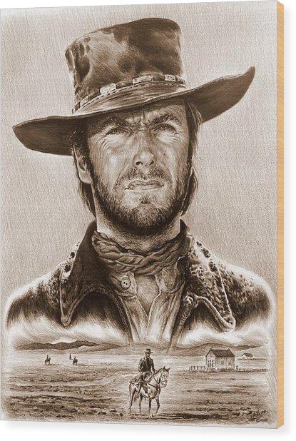 Clint Eastwood The Stranger Wood Print