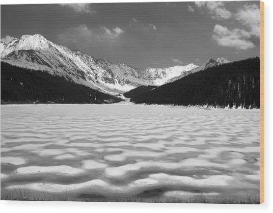 Clinton Lake Wood Print