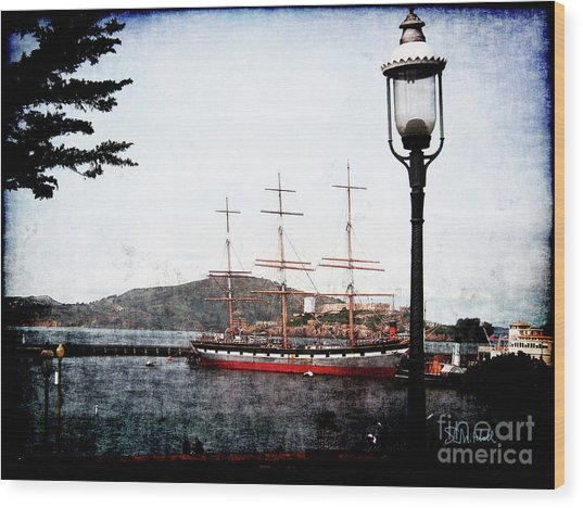 Clipper Ship Wood Print