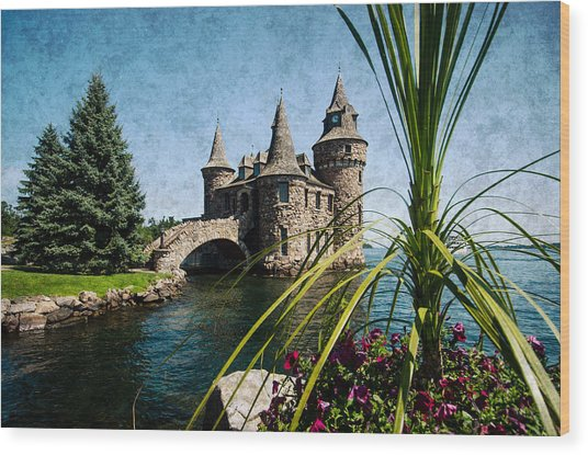 Boldt Castle Power House And Clock Tower Wood Print