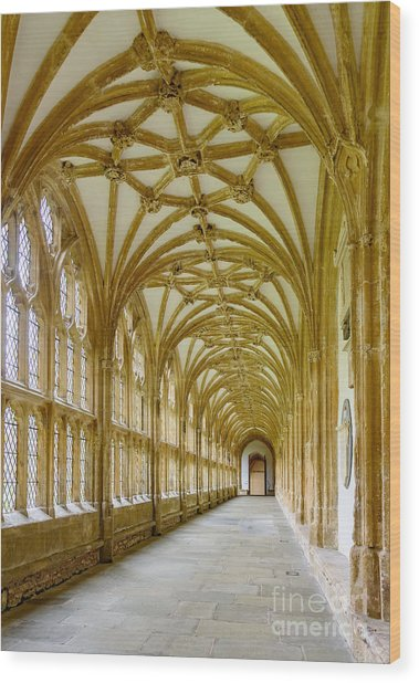 Cloisters, Wells Cathedral Wood Print