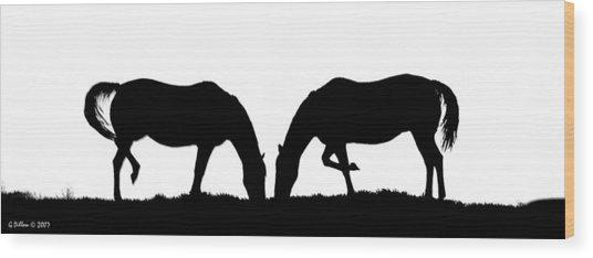 Close Companions Wood Print