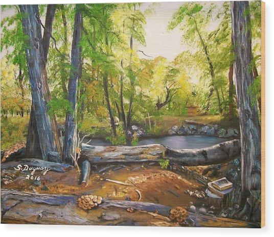 Close To God's Nature Wood Print