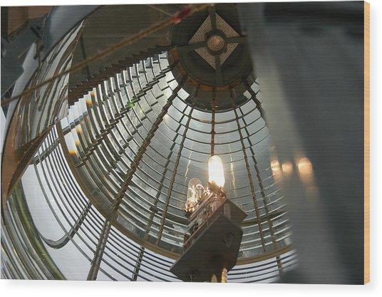 Closeup Of Lighthouse Wood Print