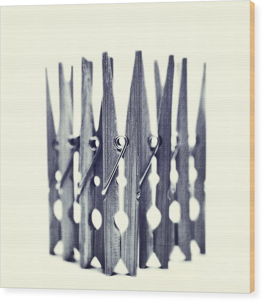 Clothespin Wood Print