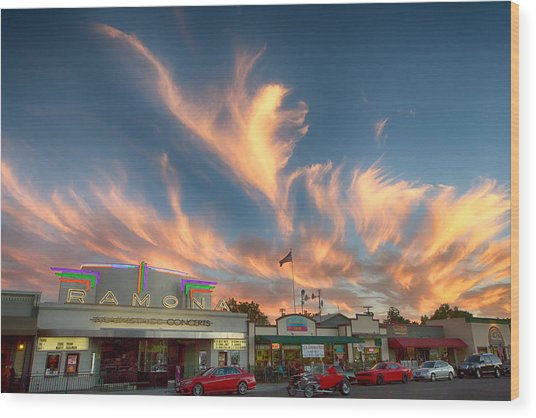 Cloud Angels Wood Print