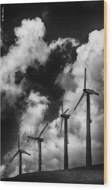 Cloud Blowers Wood Print
