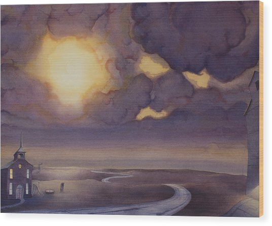 Cloud Break On The Northern Plains II Wood Print
