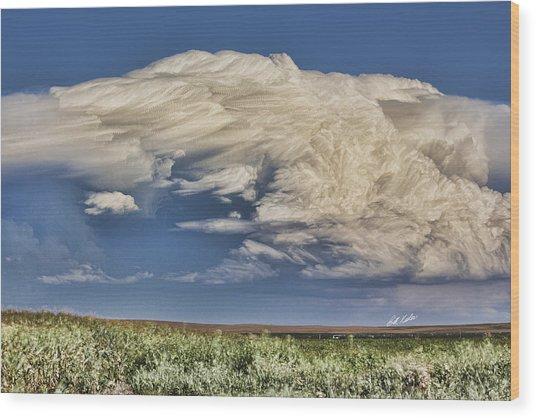 Cloud Brew Wood Print