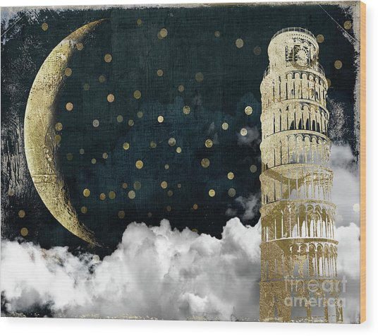 Cloud Cities Pisa Italy Wood Print